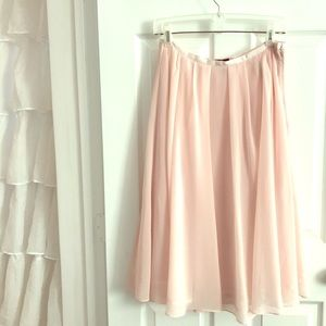 H&M blush pink tulle skirt